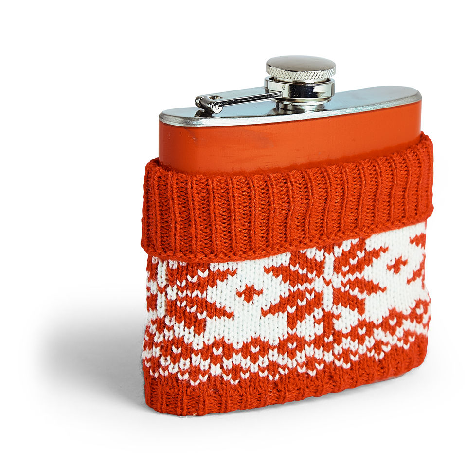 Festive Christmas Jumper Hip Flask