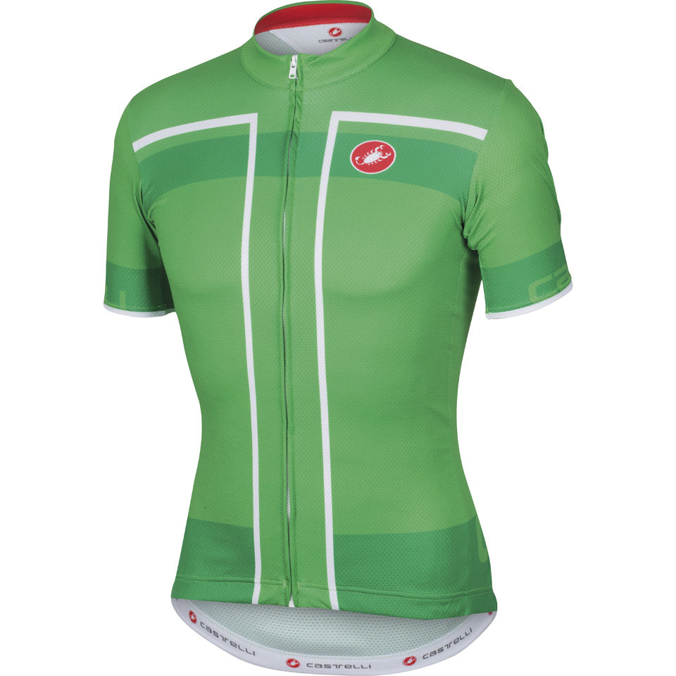 0f5b39755 Castelli Velocissimo Full Zip Jersey - Green