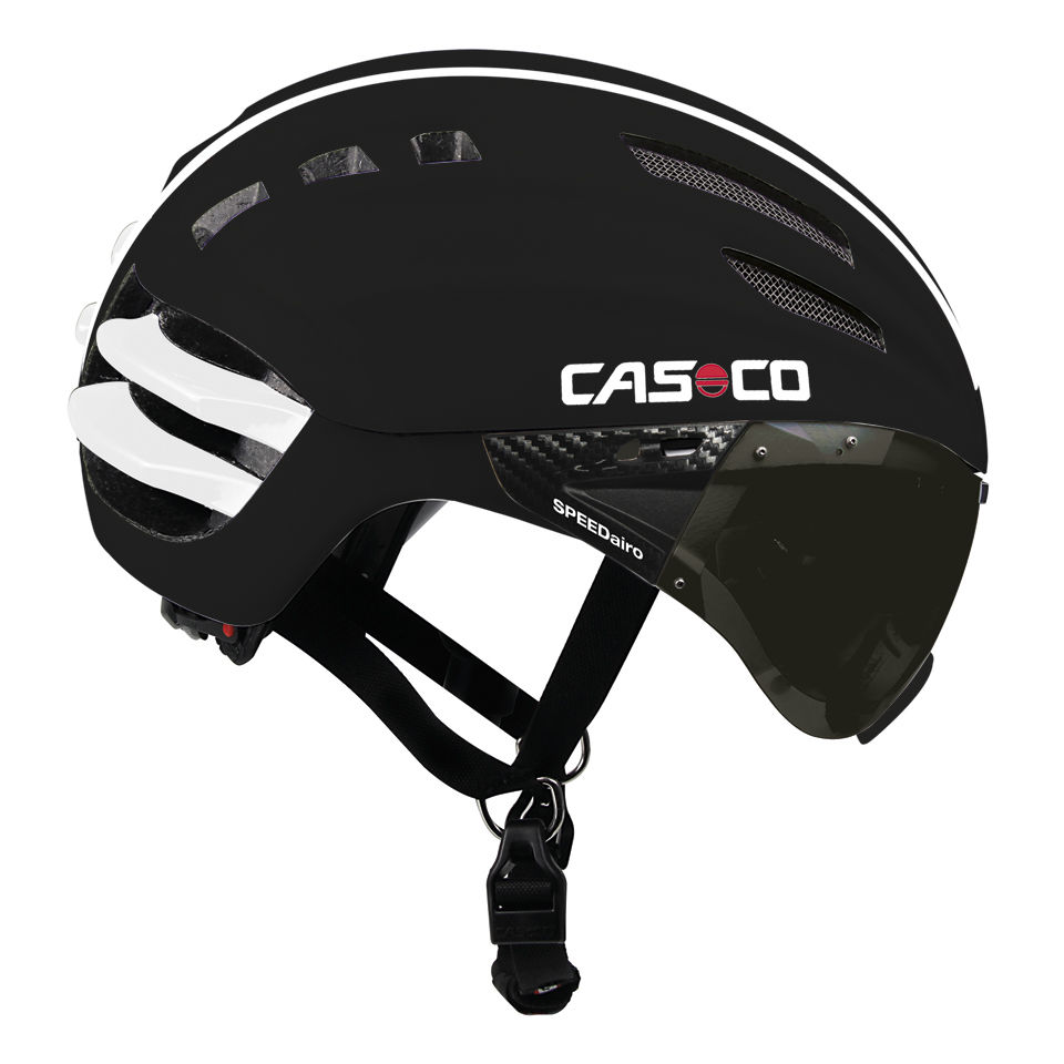 Casco Speedairo Helmet with Smoke Visor - Black