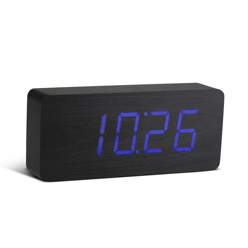 Gingko Slab Click Clock - Black
