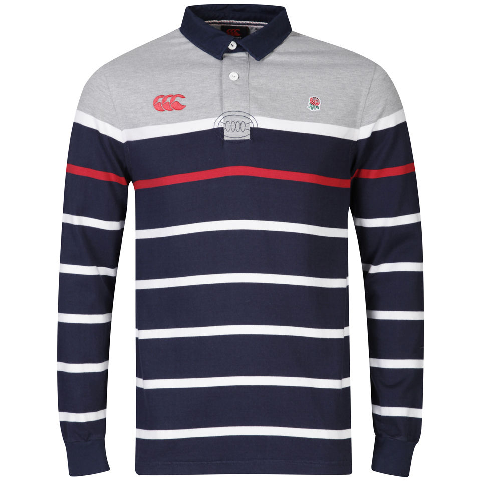 Canterbury Mens England Lifestyle Rugby Long Sleeve Jersey Navy