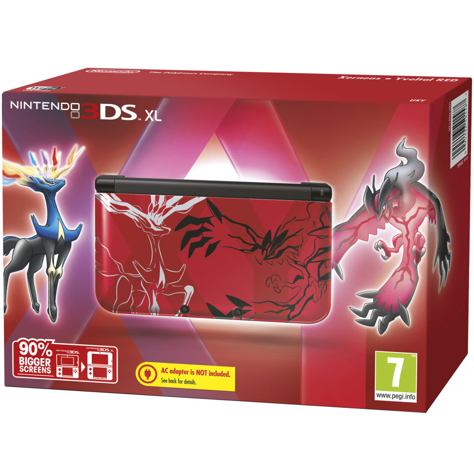 3DS XL Pokemon Red: Limited Edition Console Games Consoles