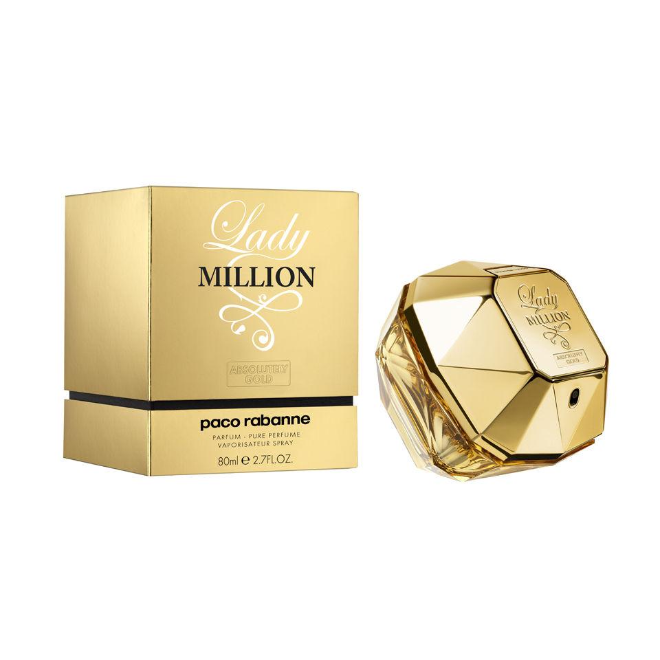 Paco Rabanne Lady Million Absolutely Gold Parfum 80ml Free