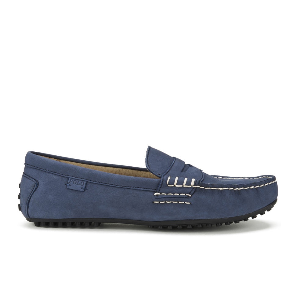 f84fc7ed5e8 Polo Ralph Lauren Men s Wes Suede Driver Shoes - Newport Navy - Free ...