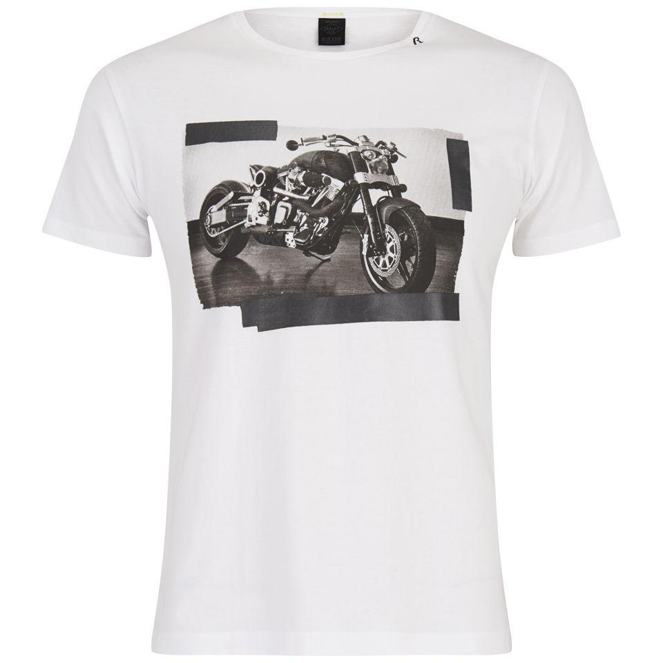 Replay Motorcycle Print T Shirt