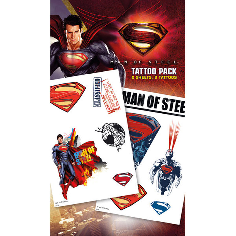Planche de Tatouages Superman Man of Steel