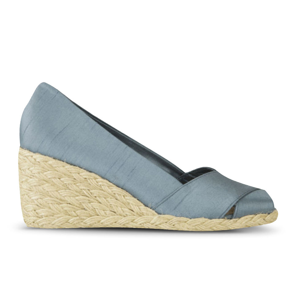 2e818eaedd9 Lauren Ralph Lauren Women's Cecilia Silk Slip-on Wedges - Chambray