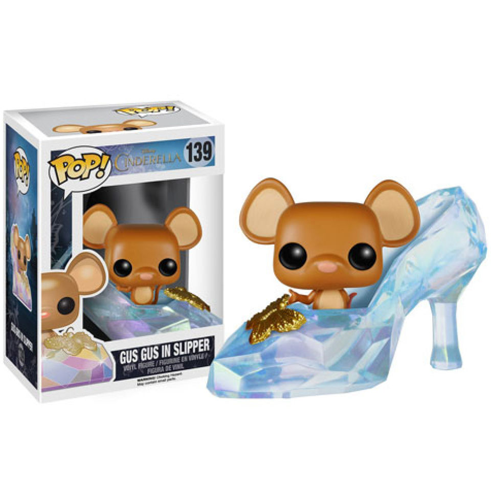 Disney Cinderella Gus Gus In Slipper Pop! Vinyl Figure