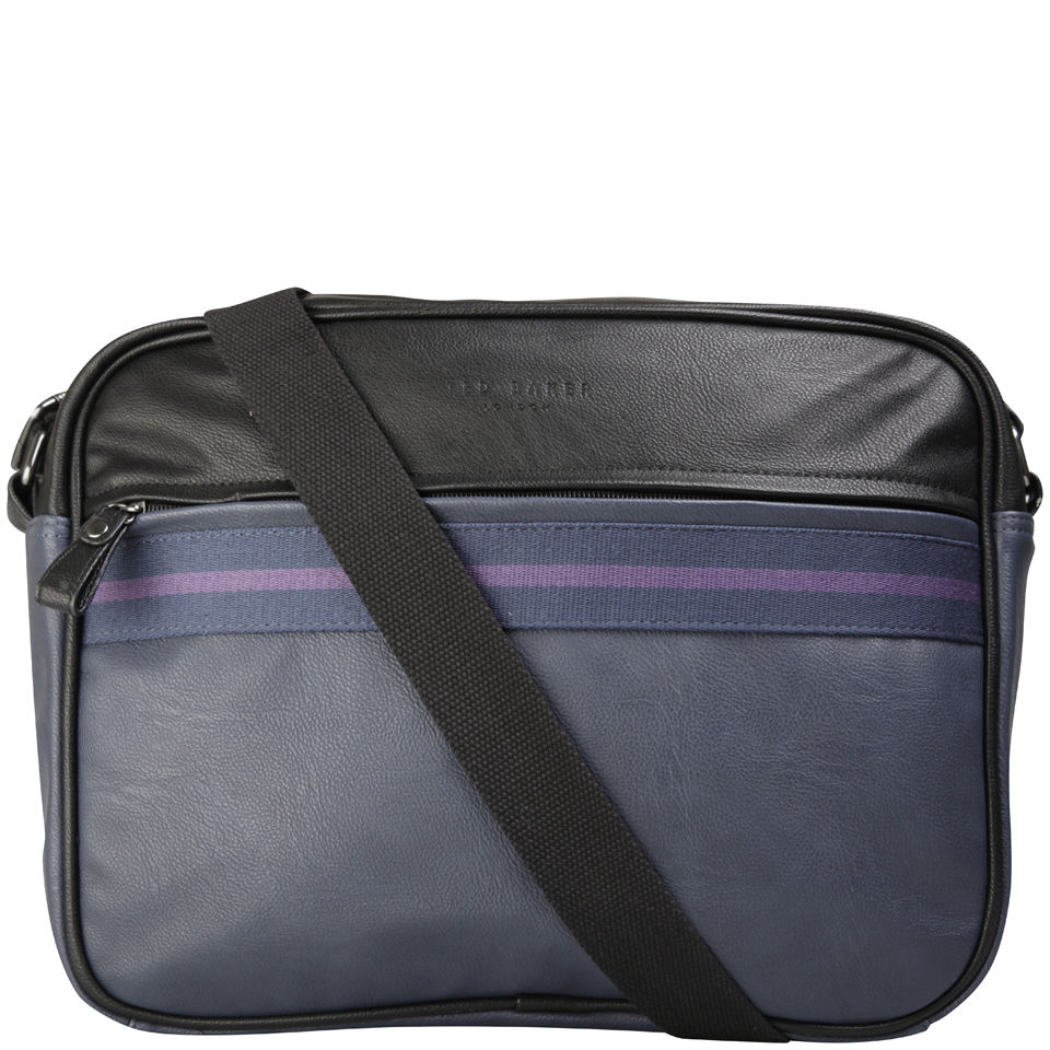 53f5cf41f4c Ted Baker Thebag Stripe Webbing Document Bag - Black Clothing ...