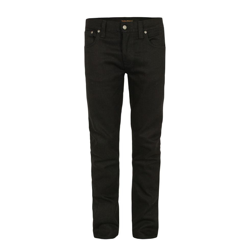 38adf2ca Nudie Men's Grim Tim Organic Ring Jeans - Black - Free UK Delivery ...