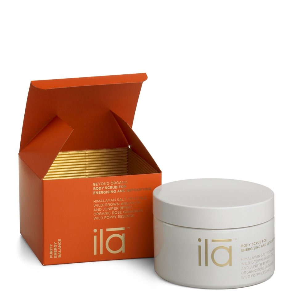ila-spa Body Scrub for Energizing and Detoxifying 8.8 oz