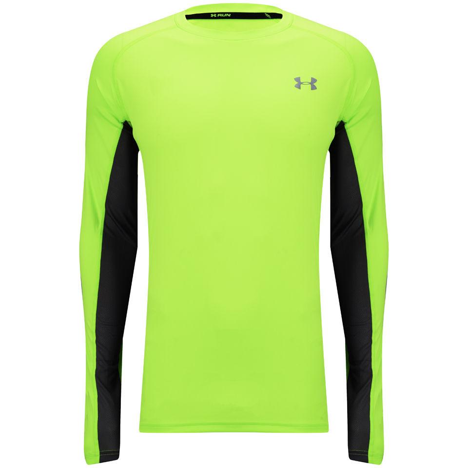 Under Armour Men s Heatgear Flyweight Long Sleeve Running T-Shirt - Hyper  Green Reflective Sports   Leisure  b01934bc1
