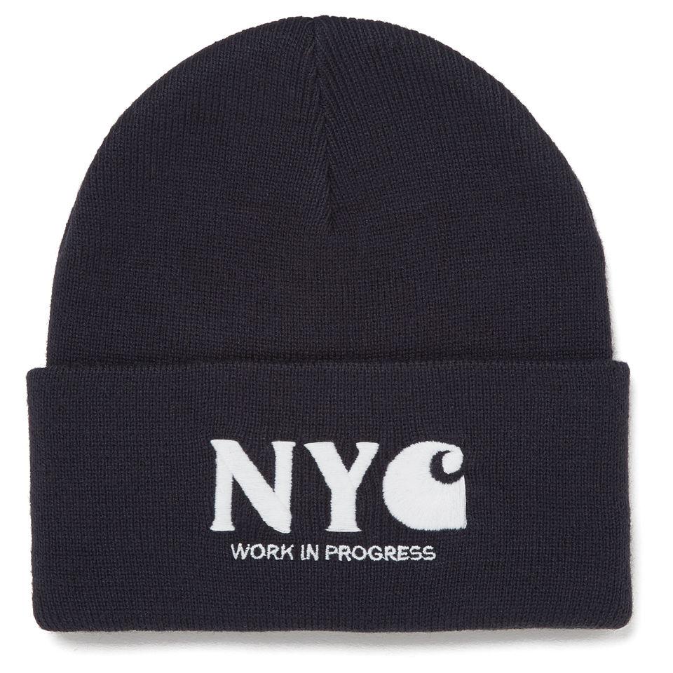 0e0d05d7 Carhartt Men's NYC Acrylic Embroidered Logo Beanie Hat - Jet