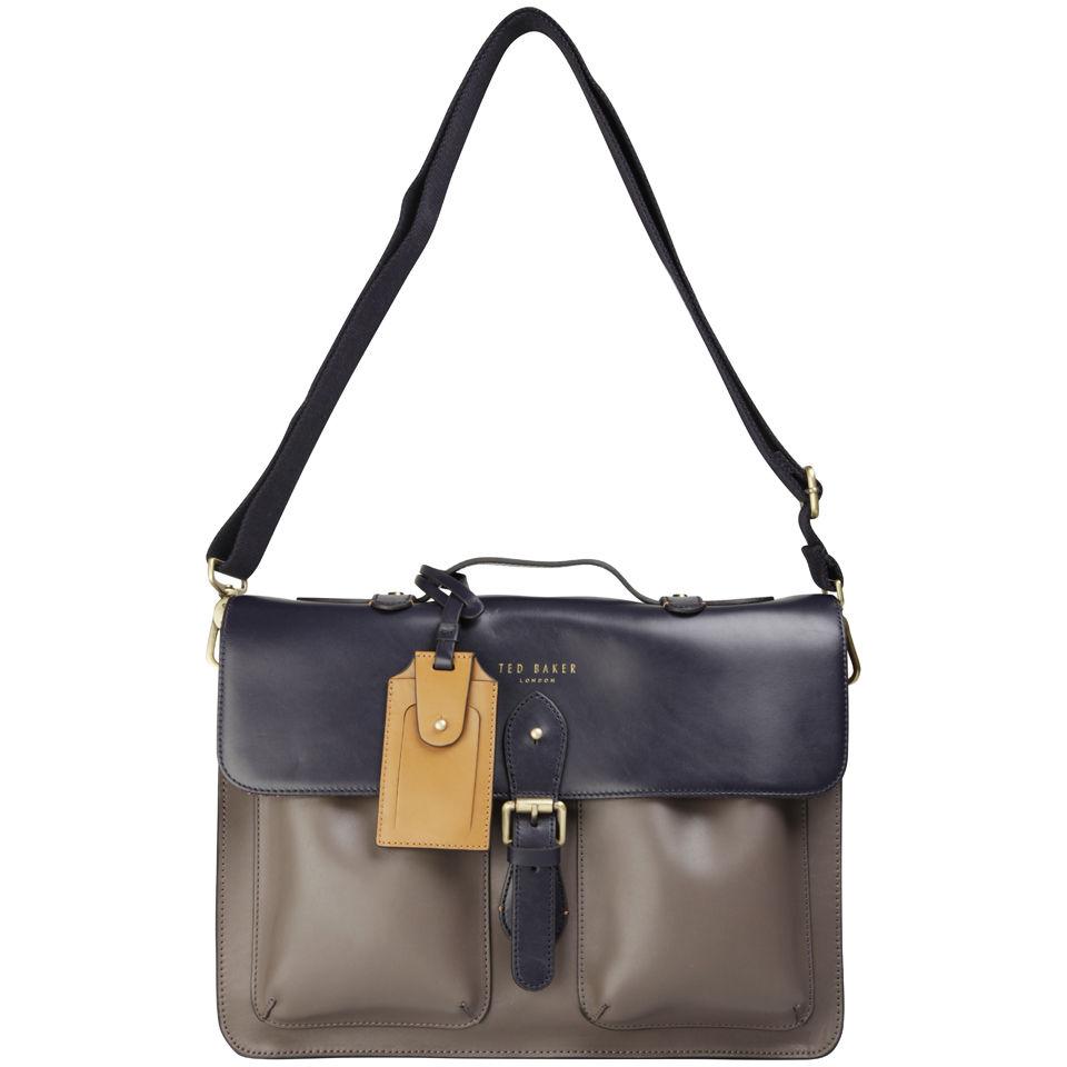 69368d4967c5af Ted Baker Harlemm Mixed Leather Satchel - Dark Blue