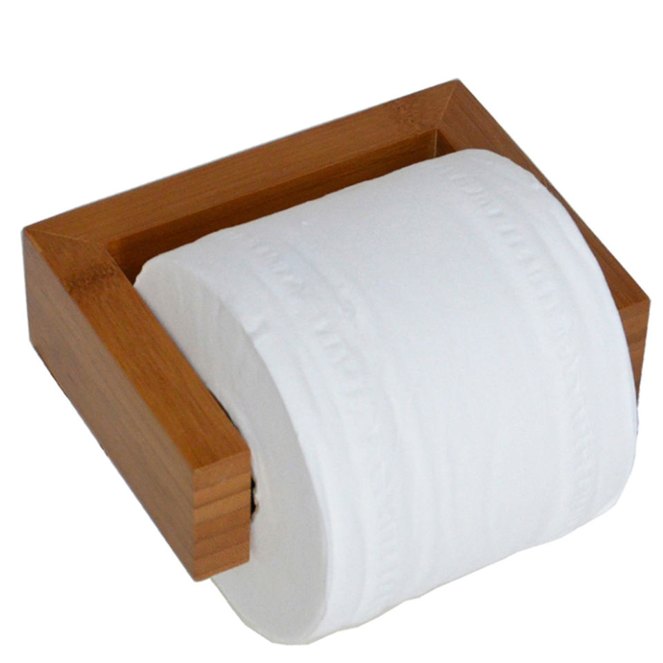 Wireworks Bamboo Toilet Roll Holder