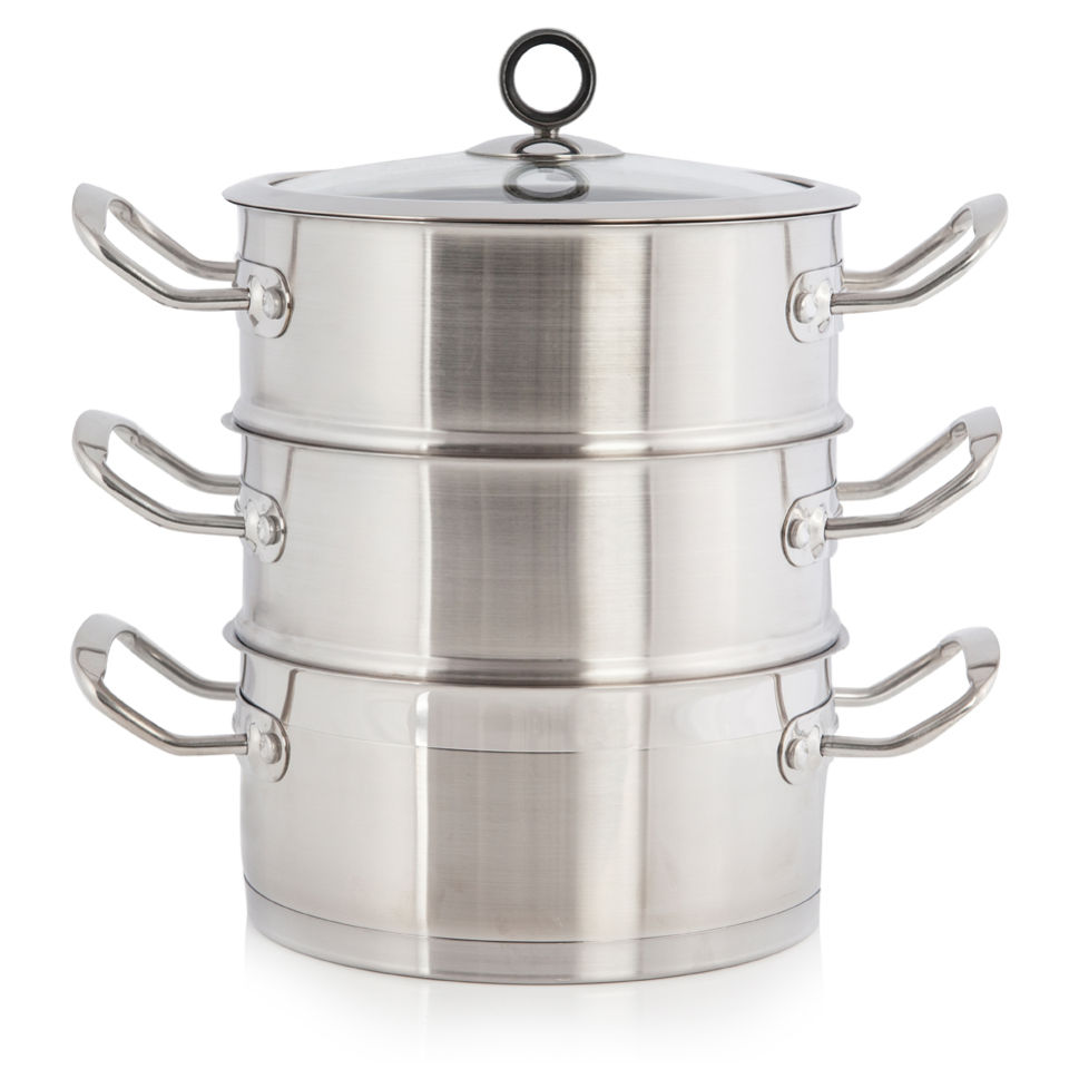 Morphy Richards 46385 Accents 3 Tier Steamer 18cm - Stainless Steel