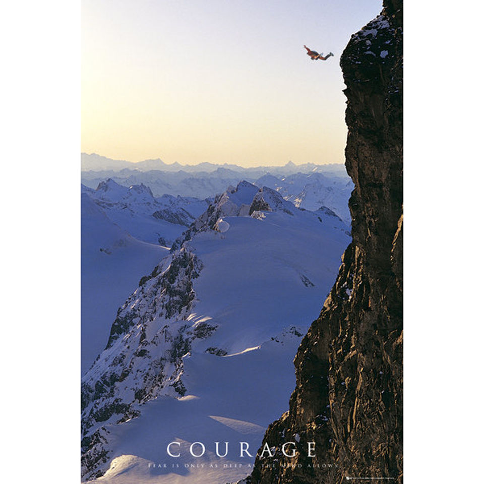 Motivational Courage - Maxi Poster - 61 x 91.5cm