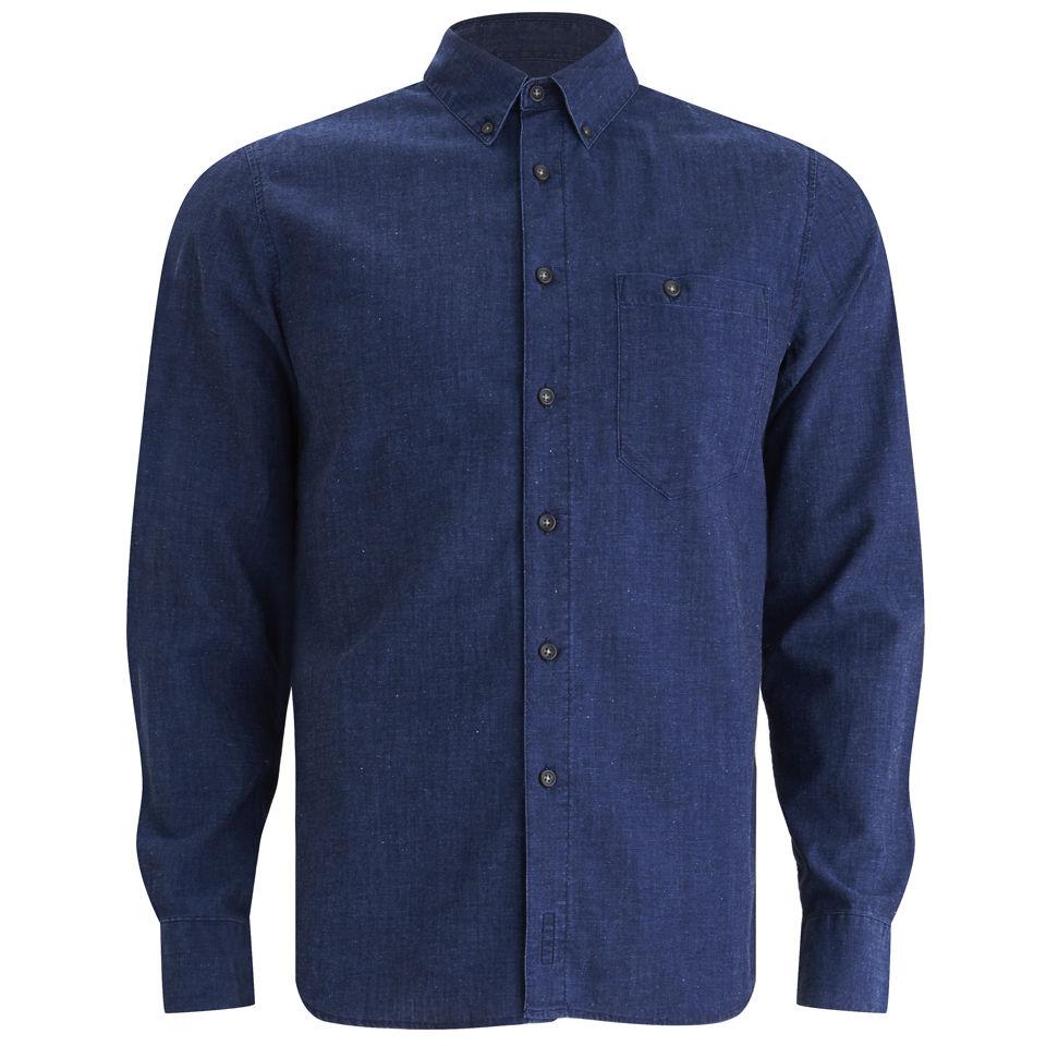 1bdb2aa0c01 Nudie Jeans Men s Stanley Denim Shirt - Organic Deep Blue - Free UK ...