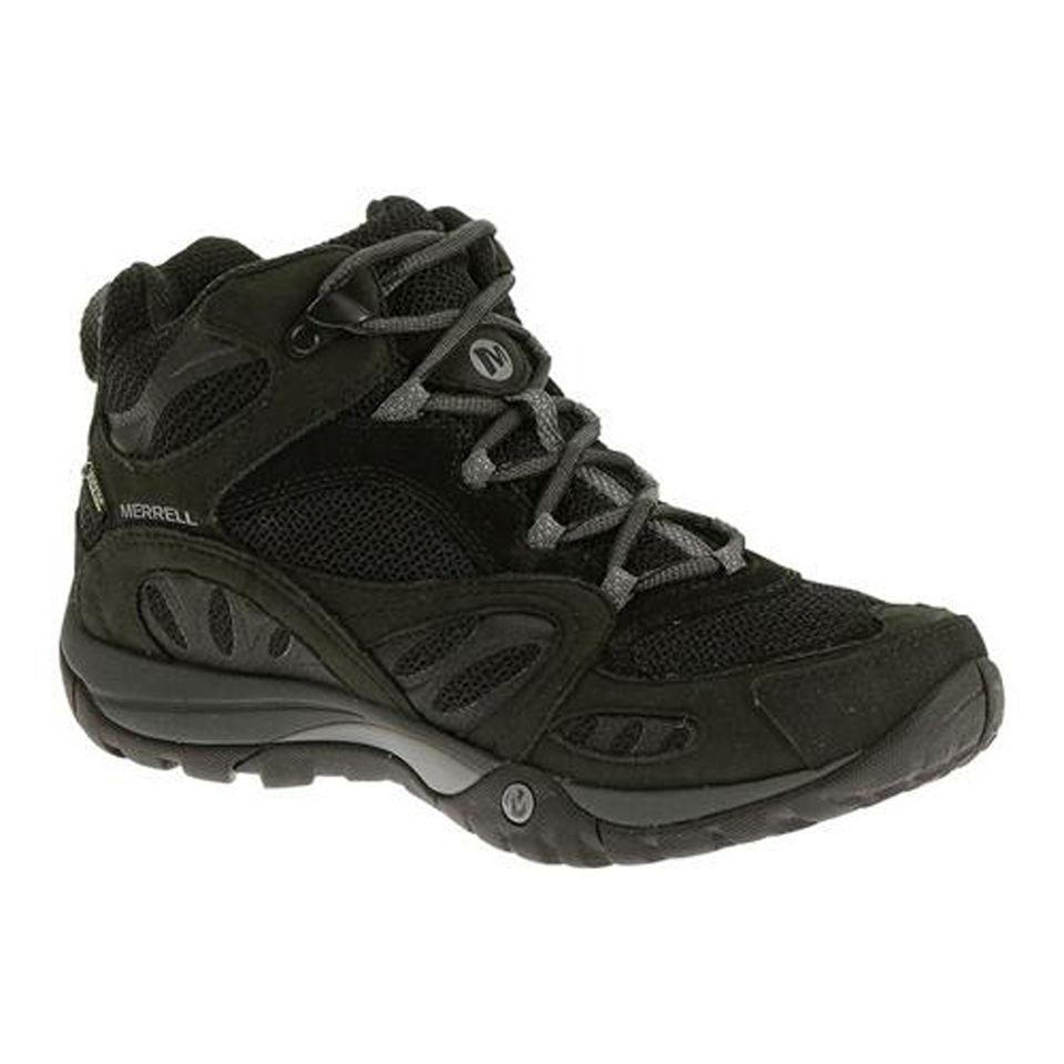 e928dcf05 Merrell Women s Azura Mid Gore Tex Hiking Boots - Black Grey. Description