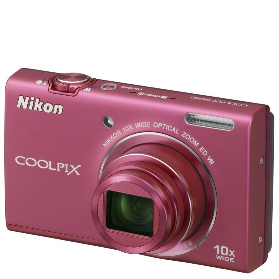 Nikon Coolpix S6200 Compact Digital Camera - Pink (16MP