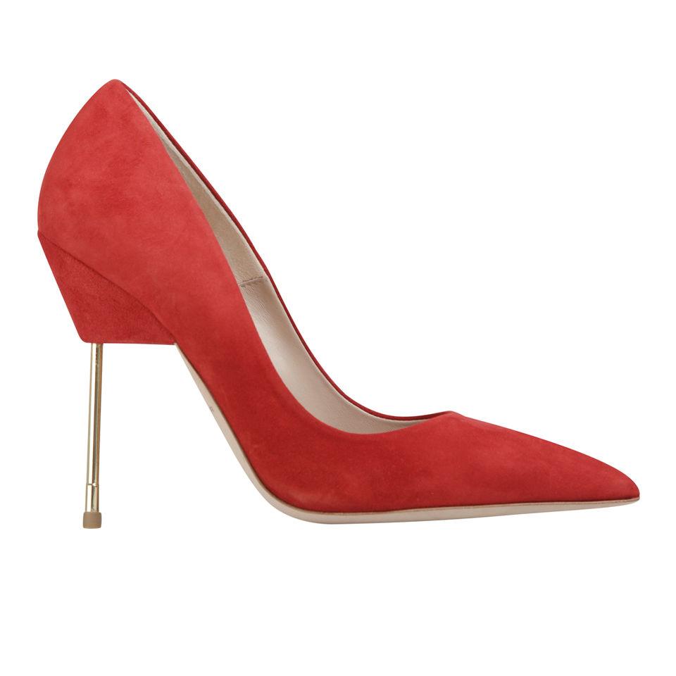 f9ab955354a Kurt Geiger Women's Britton Stiletto Heeled Suede Court Shoes - Red
