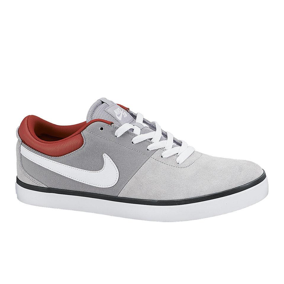 27cb5a3d9007 Nike SB Men s Rabona LR Skate Shoes - Wolf Grey White Red Sports   Leisure