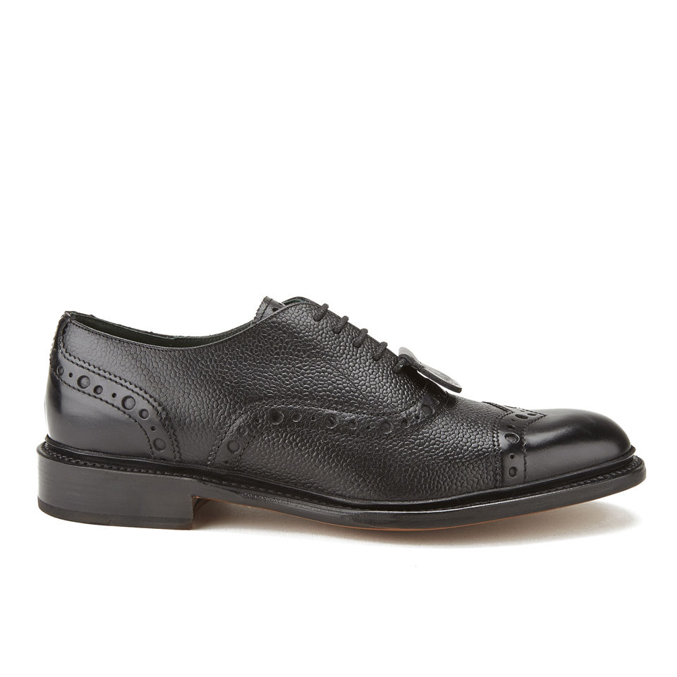 4e0f8931e385 Vivienne Westwood x Barker Men s Punched Oxford Leather Brogues - Black -  Free UK Delivery over £50