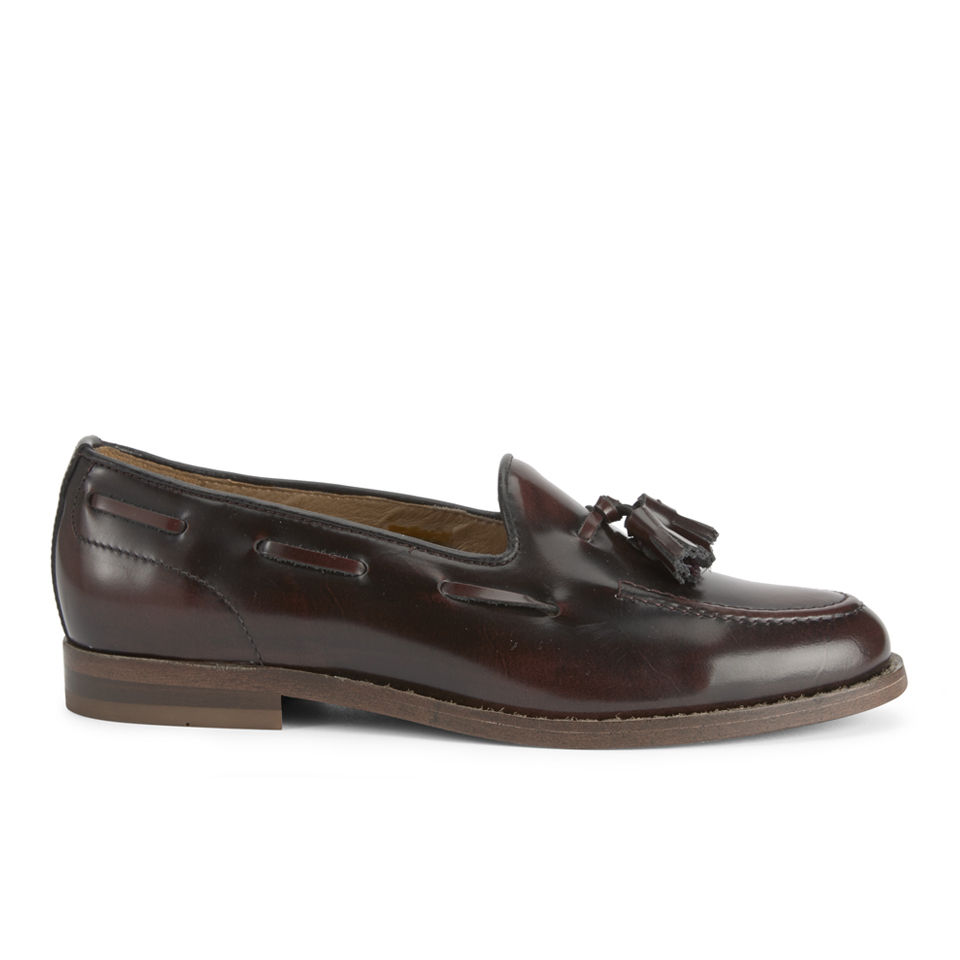 ab0001a3256 Hudson London Women s Stanford Hi Shine Tassel Loafers - Bordeaux - Free UK  Delivery over £50
