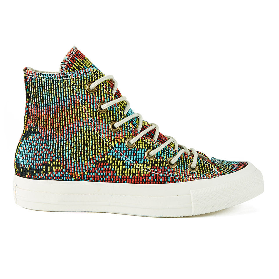 a689af522596 Converse Women s Chuck Taylor All Star Woven Multi Panel Hi-Top Trainers -  Peacock - Free UK Delivery over £50