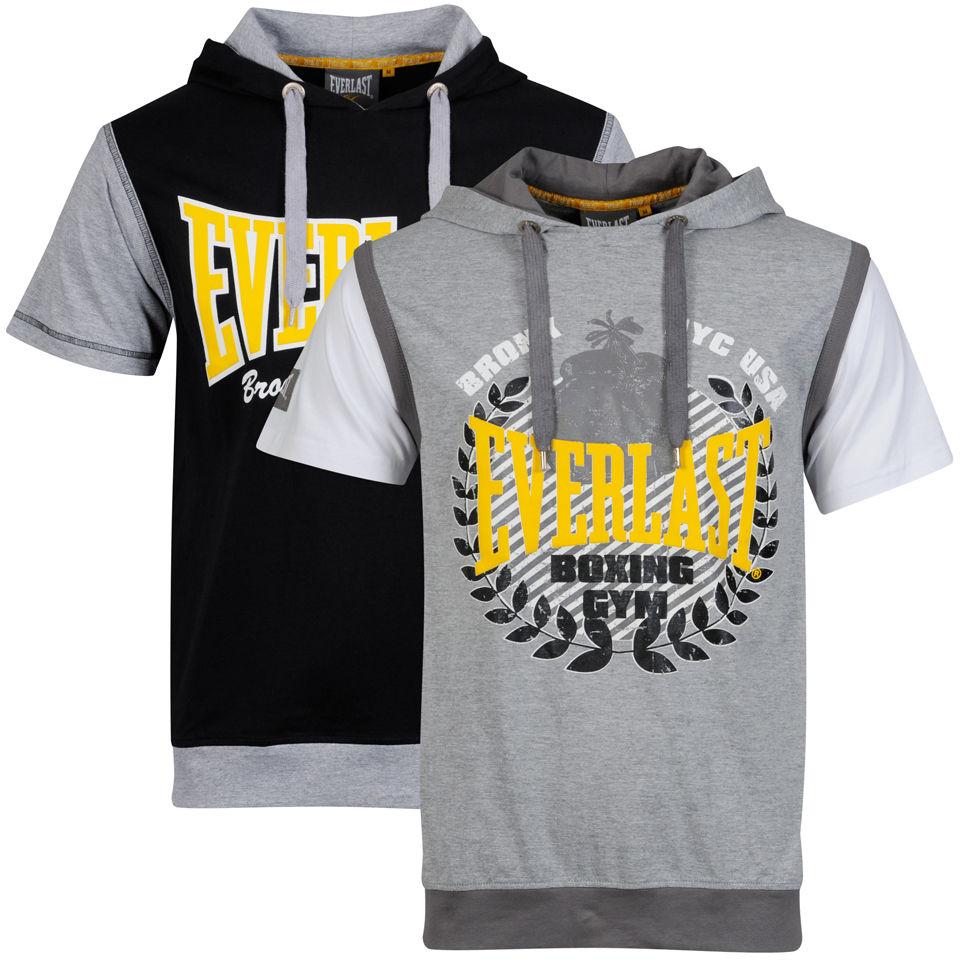 Everlast Men S 2 Pack Short Sleeve Layered T Shirts Grey