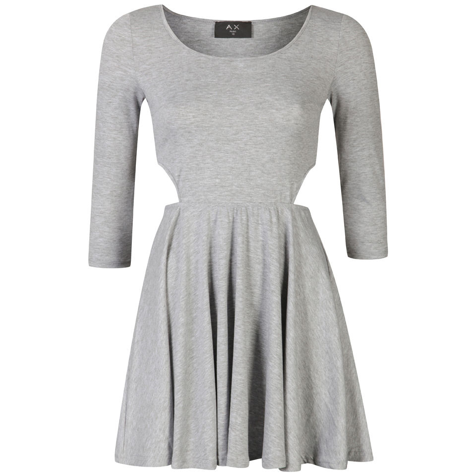 1f8974ac184e AX Paris Women s Cut Out Long Sleeve Skater Dress - Grey