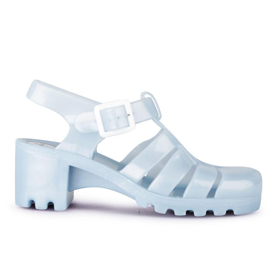 f78993fd4237 JuJu Women s Babe Heeled Jelly Sandals - Pearl Blue - Free UK ...