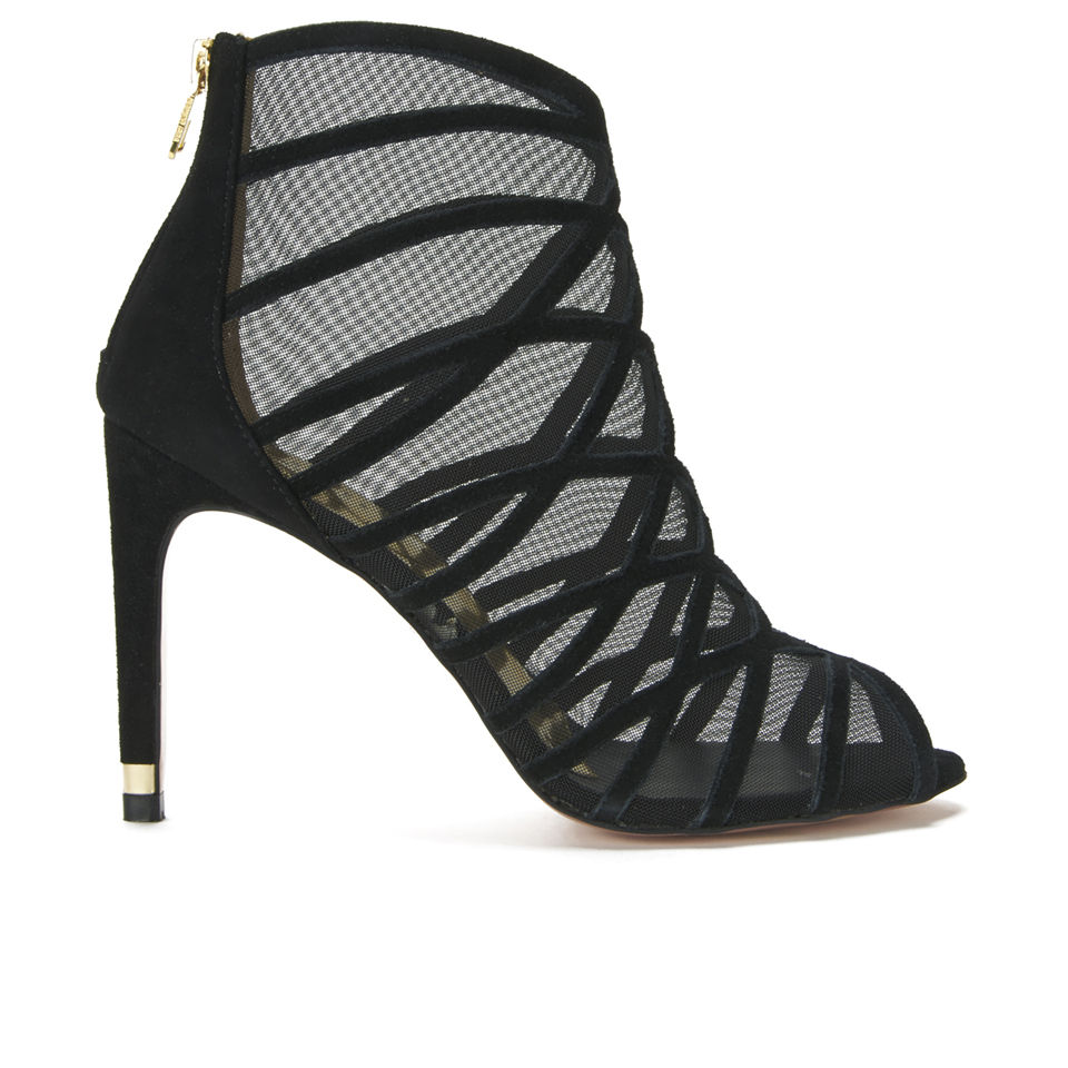 64dc0590396 Ted Baker Women s Reannon Suede Strappy Heeled Sandals - Black ...