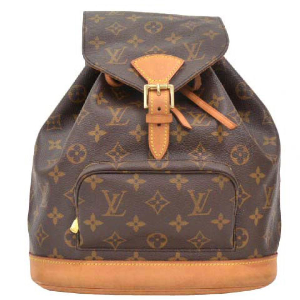 cb7226fd1540 Louis Vuitton Vintage Brown Monogram Canvas Backpack Louis Vuitton Vintage  Brown Monogram Canvas Backpack
