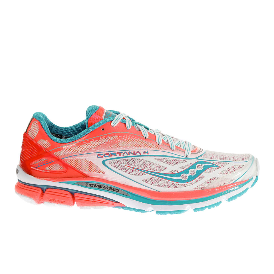 8807f594d441 Saucony Women s Cortana 4 Neutral Running Shoes (Medium Width) -  White Pink Blue