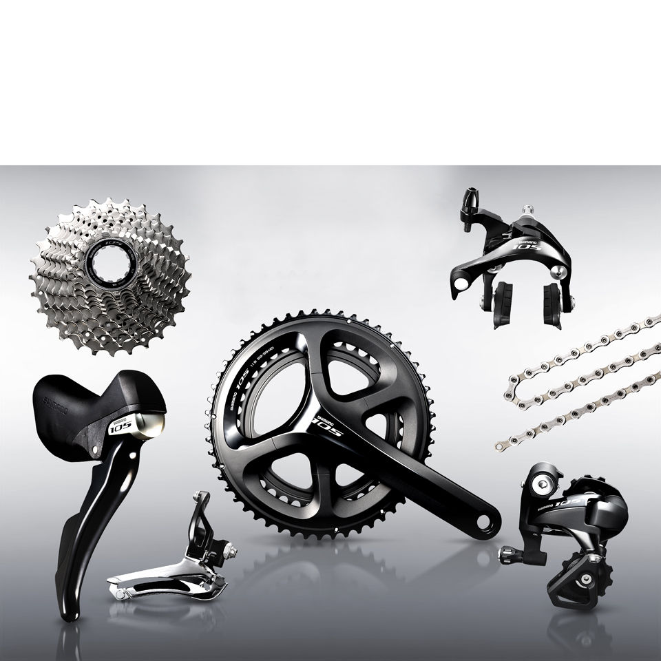 7b8cc5466b0 Shimano 105 5800 11 Speed Groupset - Black | ProBikeKit UK