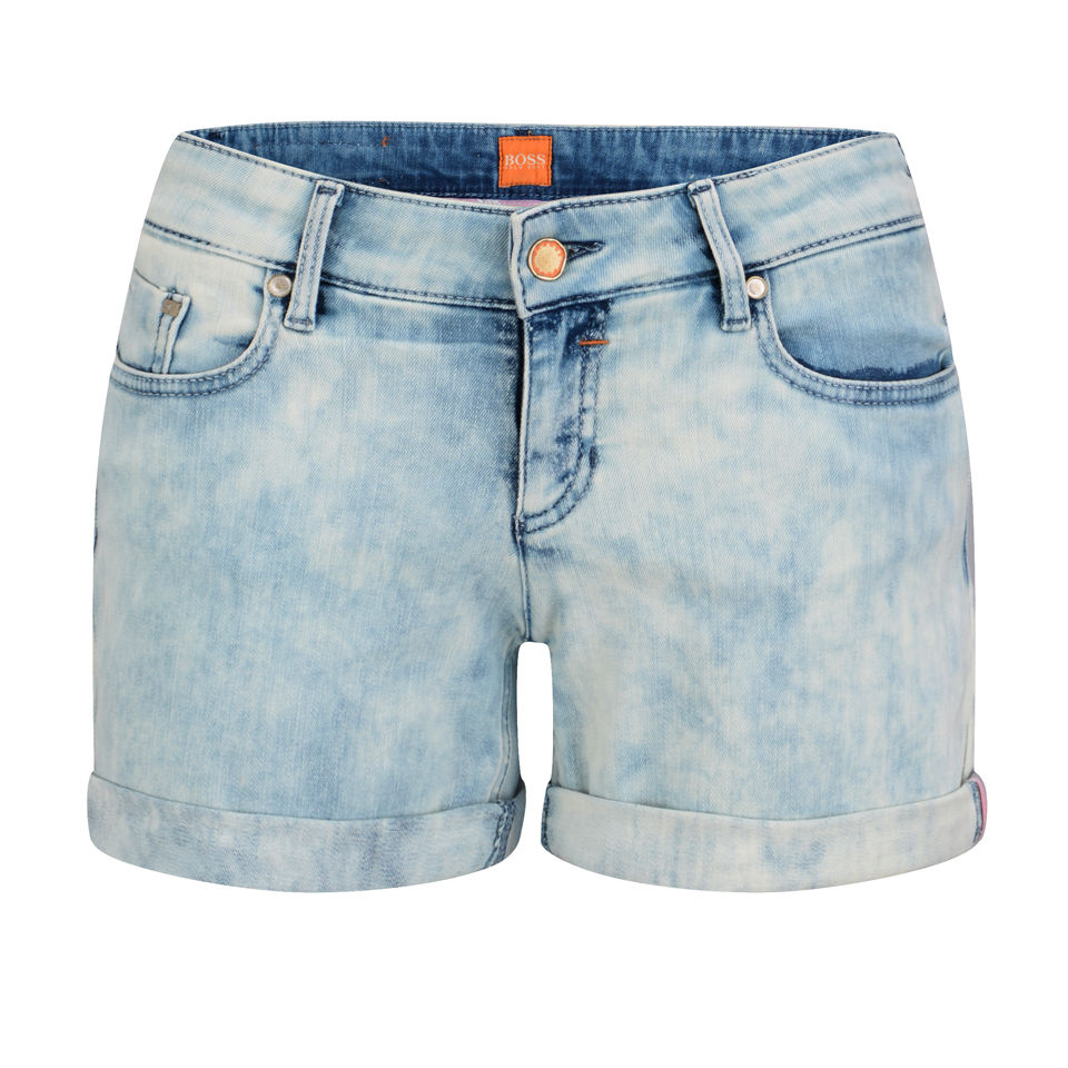 628f4dcd7 BOSS Orange Women's Lillie Denim Shorts - Blue - Free UK Delivery ...