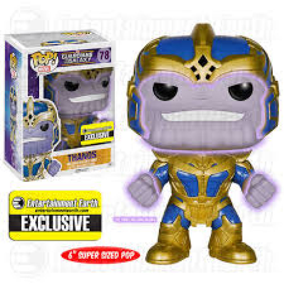 Guardians of the Galaxy Thanos GITD 6 Inch EXC Pop! Vinyl Figure