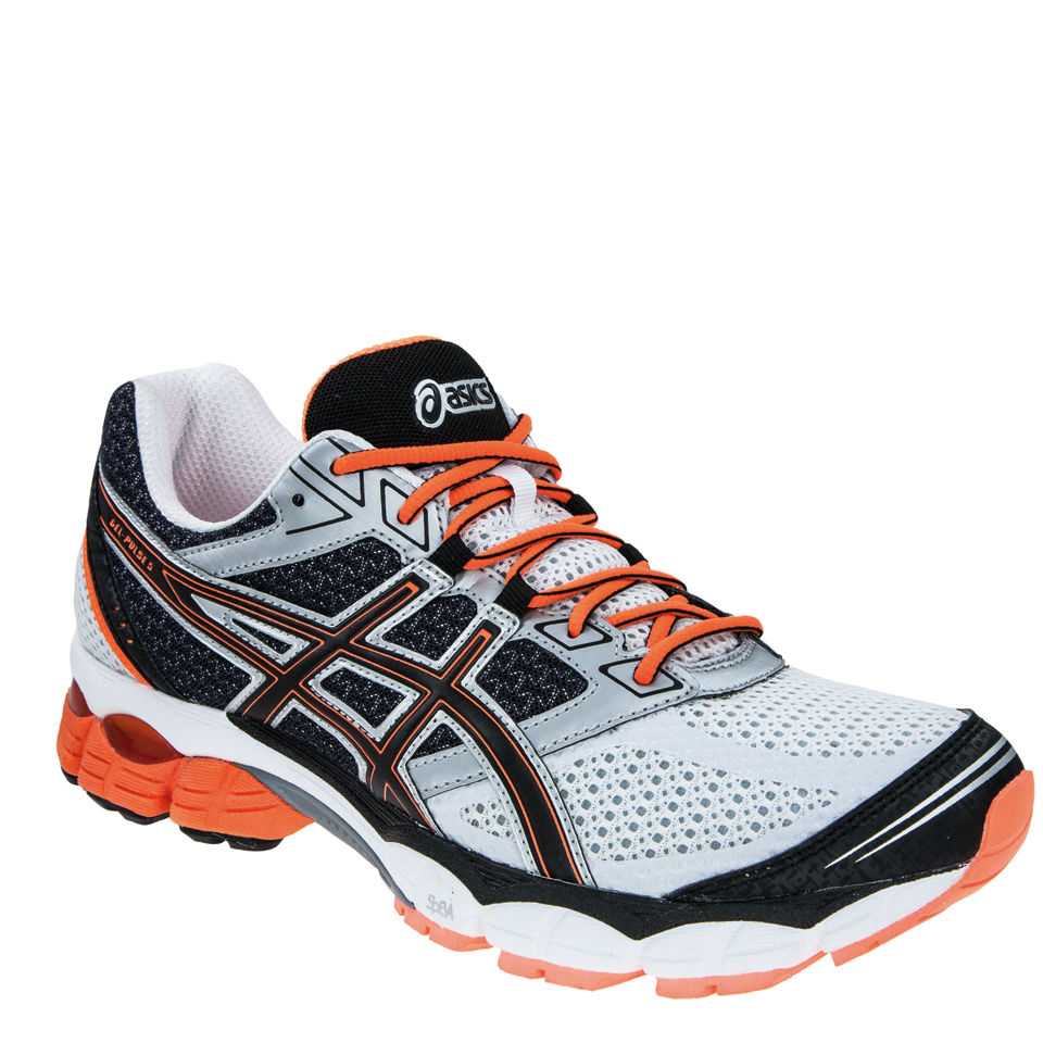 super populaire 4200f 04db3 Asics Men's Gel Pulse 5 Running Trainers - White/Onyx/Neon Orange