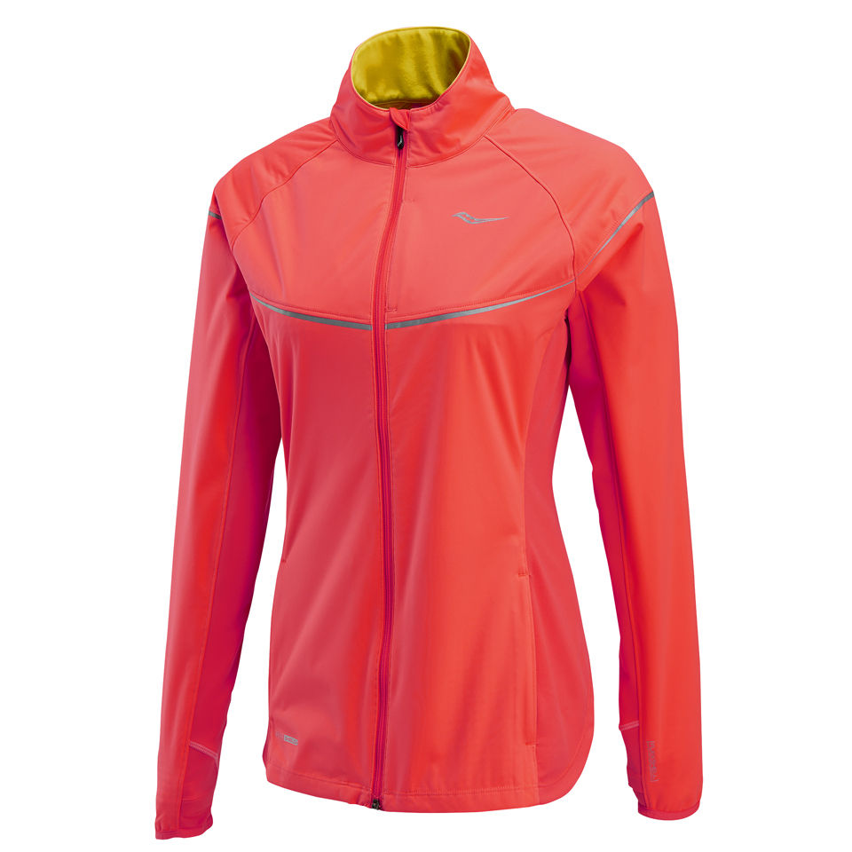 Saucony Women's Nomad Running Jacket ViziProElectric Pink