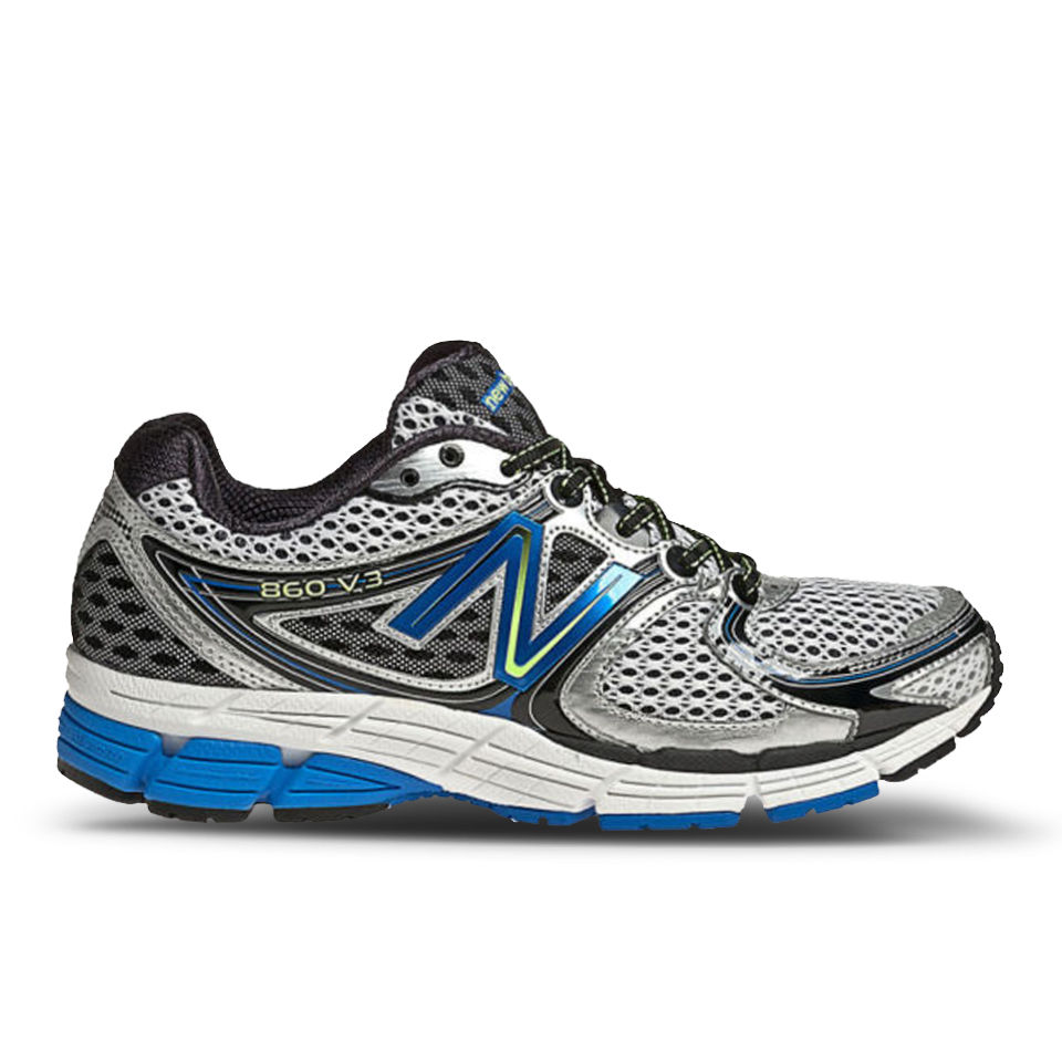 dad53b46c635c New Balance Men's M860SB3 Stability Running Shoes - Silver/Blue - Free UK  Delivery over £50