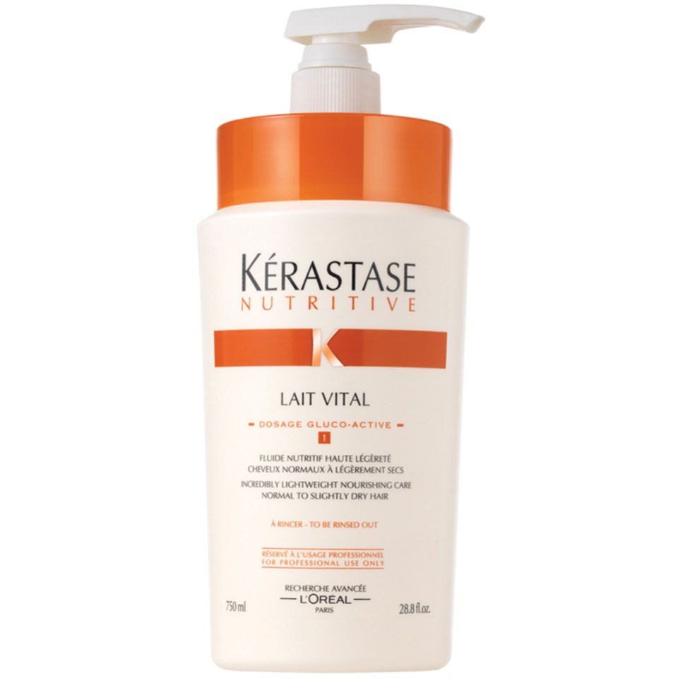 K rastase nutritive lait vital 1000ml with pump hq hair for Salon kerastase