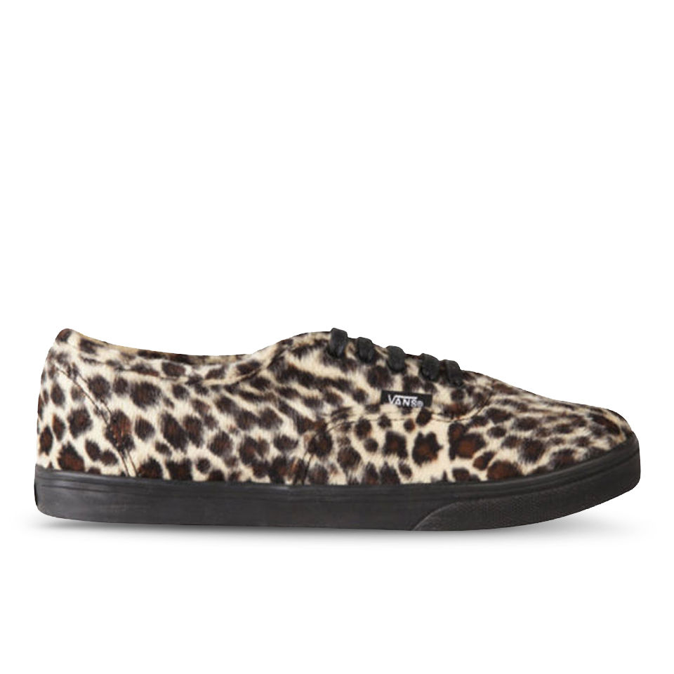 Vans Women s Authentic Lo Pro Trainers - Furry Leopard Womens Footwear  719489ca1