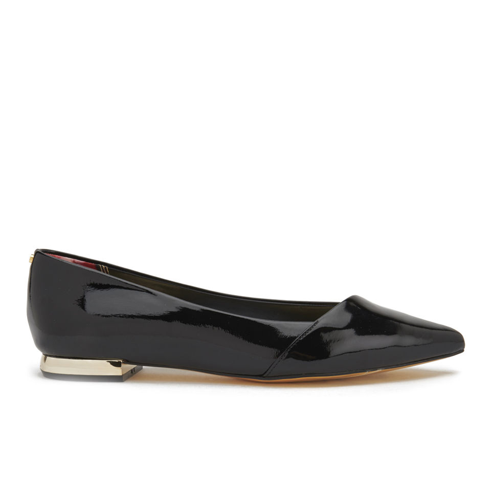 5064adb80 ... Ted Baker Women's Pasces Patent Pointed Asymmetric Flats - Black