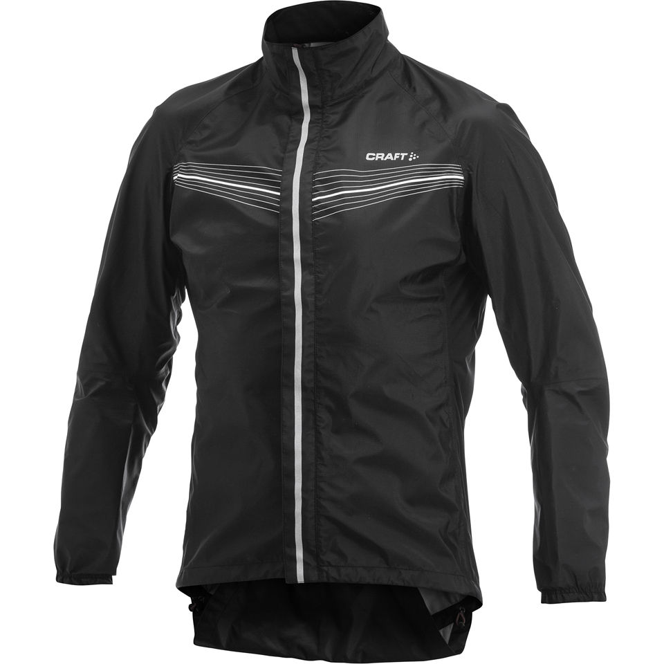 Craft elite bike tech jacket black white probikekit uk for Craft mountain bike clothing