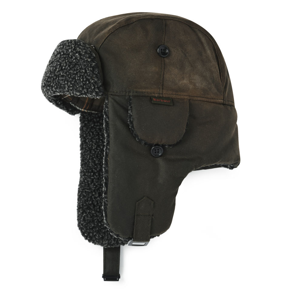 b4a7c3709fa6a Barbour Fleece Lined Trapper Hat - Olive - Free UK Delivery over £50