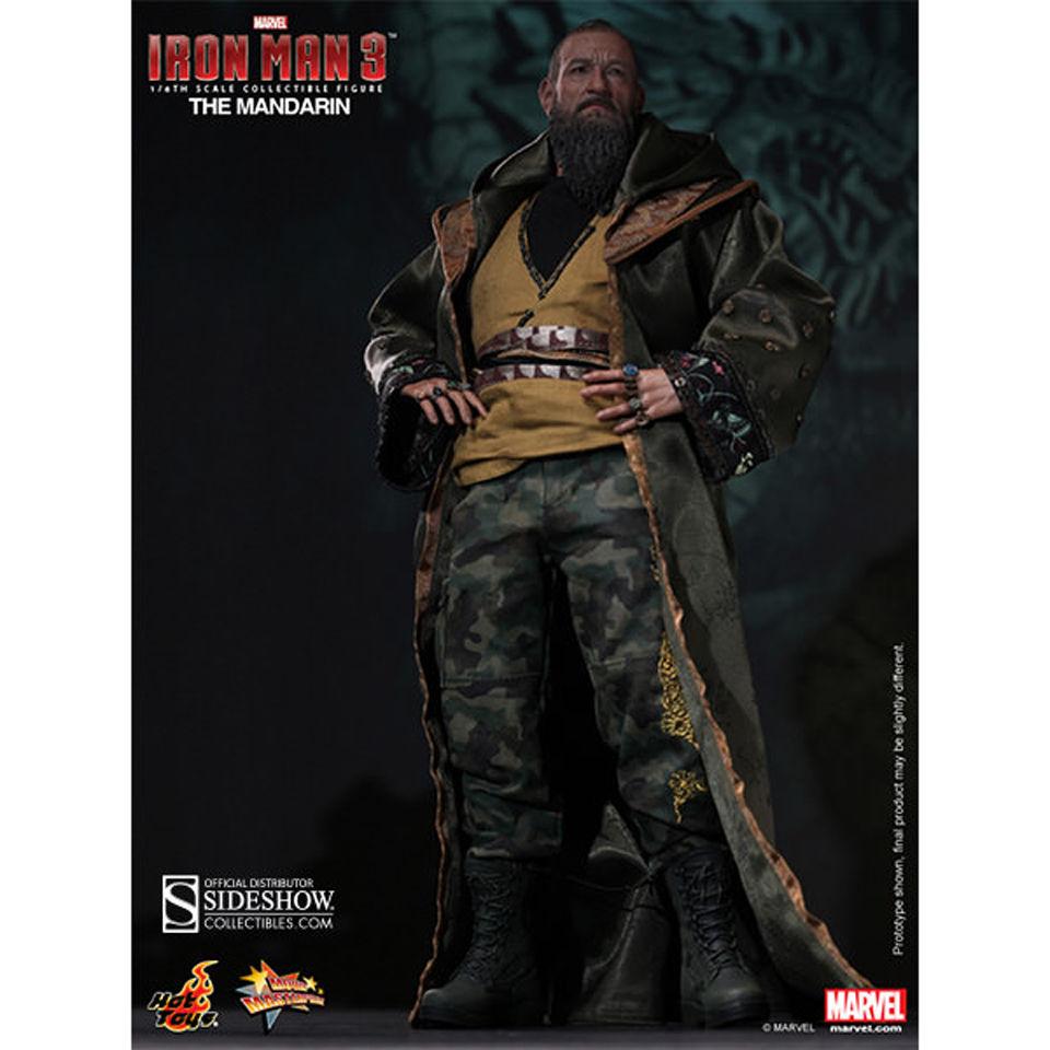 Hot Toys The Mandarin Iron Man Sir Ben Kingsley 1:6 Action Figure No Box /& Chair