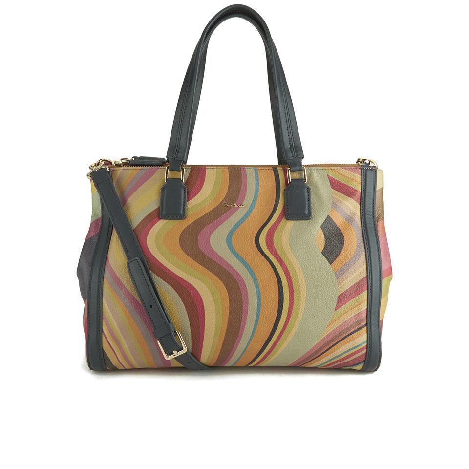 10f5b09299dd Paul Smith Accessories Women s Double Zip Tote Bag - Multi Swirl ...