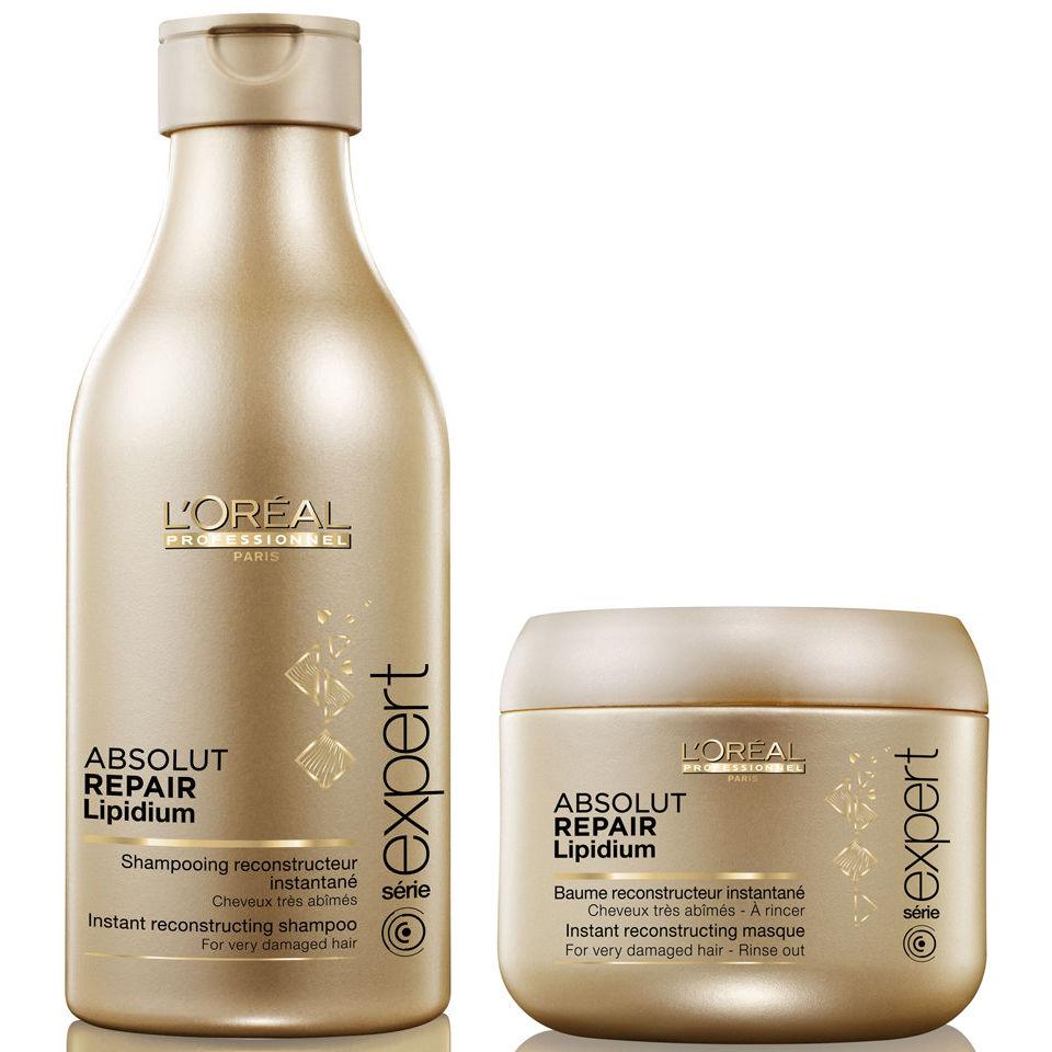 aa014bfcb L'Oreal Professionnel Absolut Repair Lipidium Shampoo (250ml) & Masque ( 200ml) (Bundle) | Free Shipping | Lookfantastic