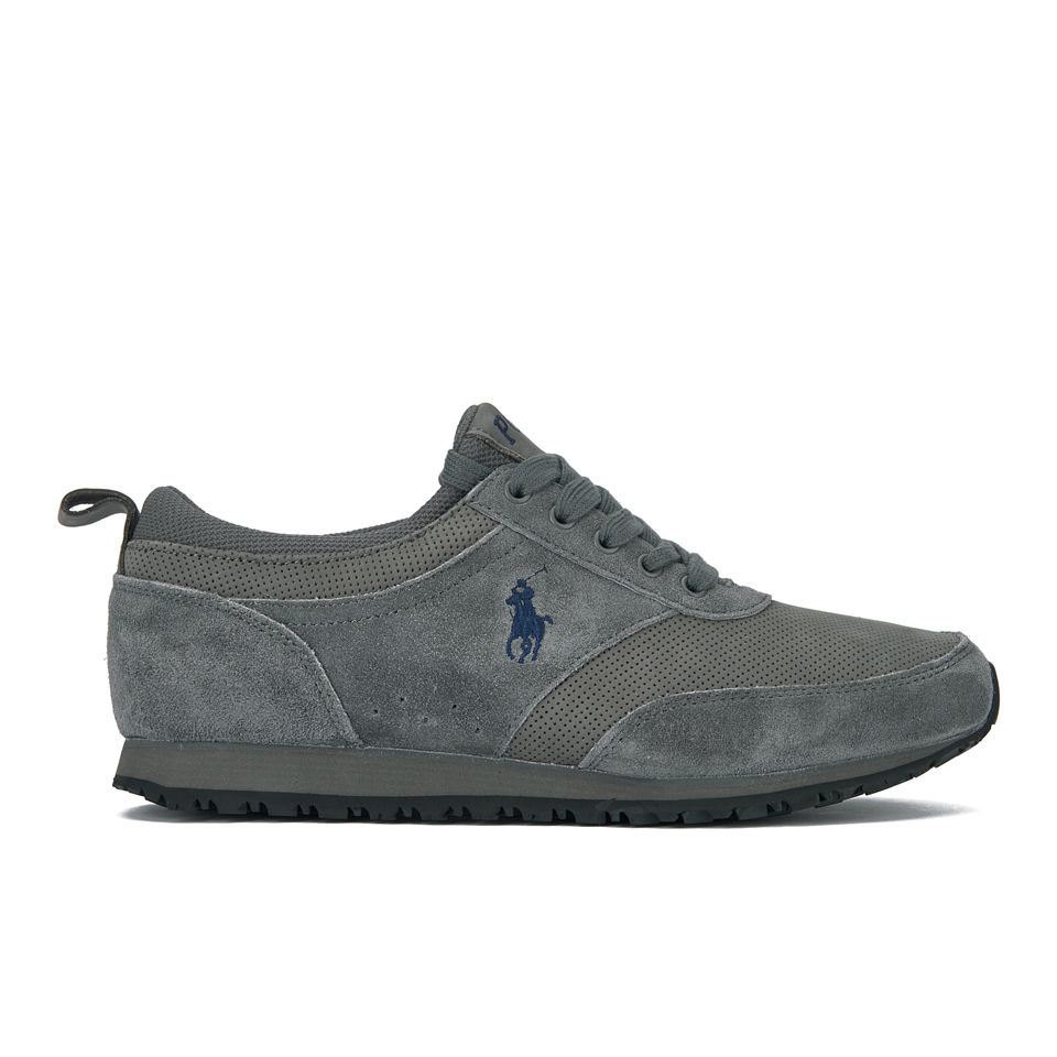 Men's Ralph Suedeleather Sport Trainers Runner Lauren Ponteland Polo Charcoal fYgy67Ibv